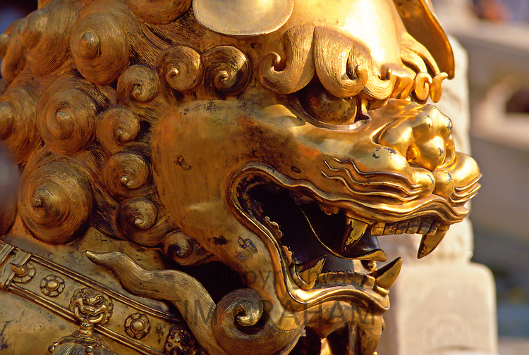 Chinese dragon statue in the Forbidden City, Peking, China