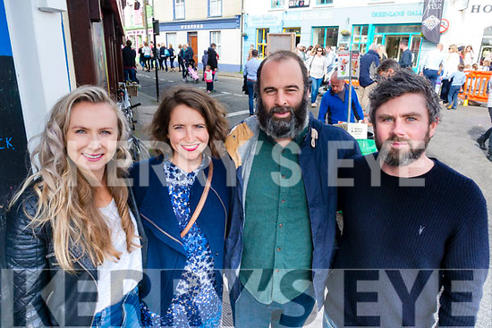 Julie Winters, Bridget Henderson, Brad Griffiths and Paul White, pictured at the Dingle Food Festival on Saturday afternoon last.