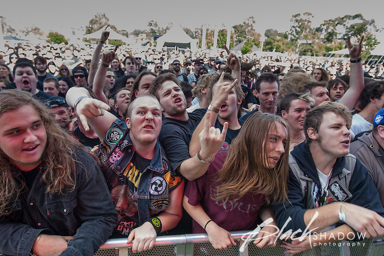 Crowd at Soundwave Festival 2013, Flemington Racecouse, Melbourne, 1 March 2013