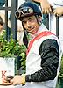 Mark Guidry aboard Brilliant after winning The grade 3 Kent Stakes at Delaware Park on 9/9/06