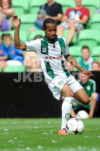 GRONINGEN - Voetbal, FC Groningen - Aston Villa, voorbereiding seizoen 2014-2015, 02-08-2014,  FC Groningen speler Jarchinio Antonia