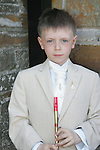 John Moore from Callystown NS who made his first communion at Clogherhead church on Saturday.