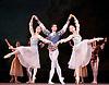 Swan Lake<br /> Mariinsky Ballet <br /> presented by Victor Hochhauser<br /> at The Royal Opera House, London, Great Britain <br /> 25th July 2011<br /> <br /> Maria Shirinkina<br /> Alexander Rybak<br /> Anastasia Nititina<br /> <br /> pas de trois<br /> <br /> Photograph by Elliott Franks