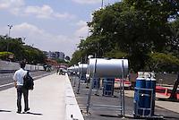 SÃO PAULO, SP, 11 DE MARÇO DE 2010 - VISTORIA SÃO PAULO INDY 300 - Na tarde desta quinta-feira, o prefeito da cidade Gilberto Kassab, ao lado do secretário dos transportes Alexandres de Moraes, do presidente da SPTuris Caio de Carvalho e organizadores do evento fizeram uma última vistoria das obras da São Paulo Indy 300, que acontece no próximo final de semana na região norte da capital paulista. (FOTO: WILLIAM VOLCOV / AGÊNCIA NEWS FREE).