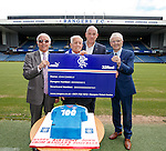 100 year old Rangers fan John Connelly with Willie Henderson, manager Mark Warburton and Davie Wilson