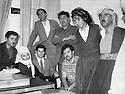Iran 1970 Sheikh Osman, 2nd left, with the chief of health department in Sakkez <br /> Iran 1970 Sheikh Osman, 2eme gauche avec le responsable du departement de la sante a Sakkez