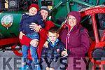 Mandy and Gary Landers, Logan and Cole Shannon from Tralee at the Threshing Festival in Blennerville on Sunday.