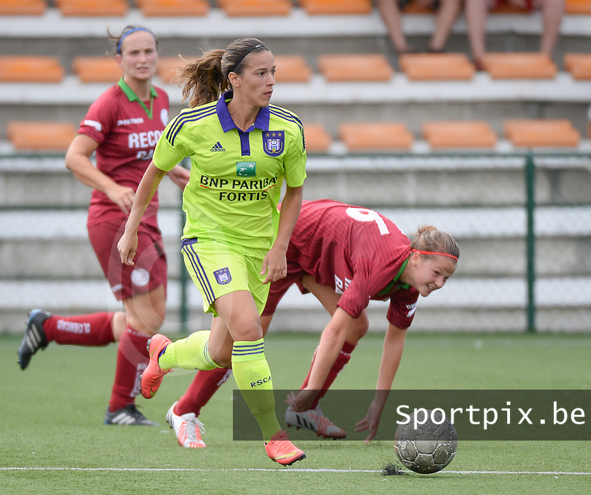 20150808 - ZULTE , BELGIUM : Anderlecht's Solange Rodrigues Carvalhas pictured during a friendly soccer match between the women teams of Zulte-Waregem and RSC Anderlecht  , during the preparations for the 2015-2016 SUPERLEAGUE season, Saturday 8 August 2015 . PHOTO DAVID CATRY