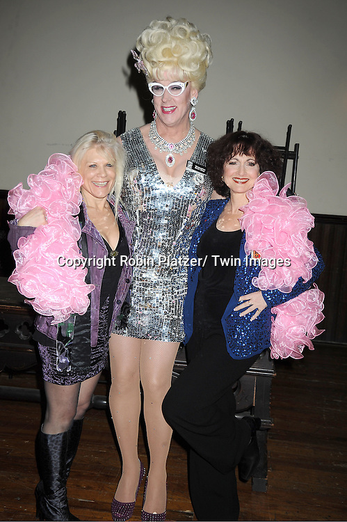 """Ilene Kristen, Viscountess Doris Dear and Robin Strasser attends The """"Daytime Meets Nighttime"""" hosted by .The Imperial Court of New York on November 4, 2011 at .The Jan Hus Theatre in New York City. The benefit was for The Jan Hus Theatre and Lifebeat."""