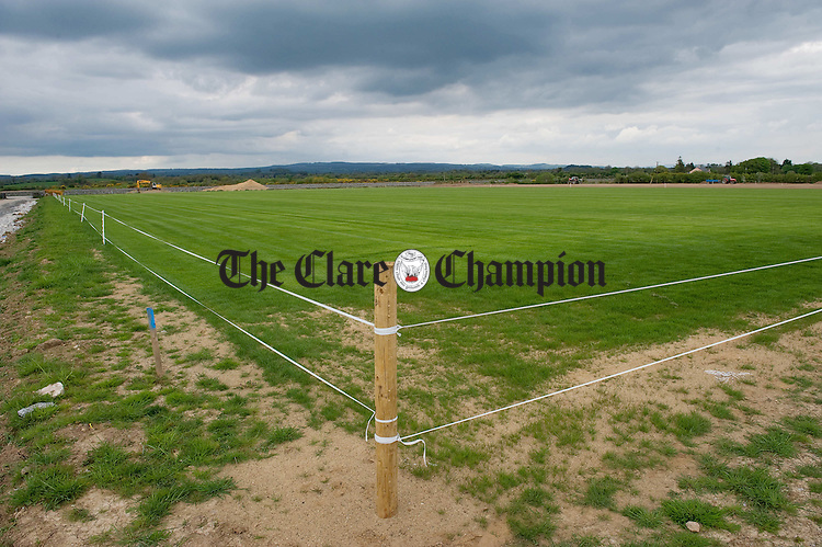 The first pitch to be seeded grows a healthy cover of grass at the New Clare GAA pitches development in Tulla. Photograph by John Kelly.