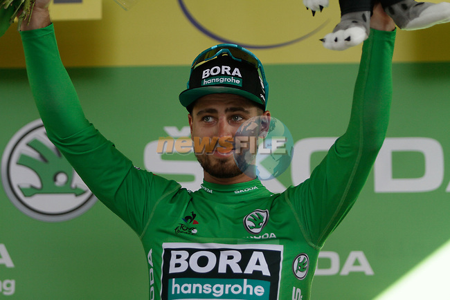 Peter Sagan (SVK) Bora-Hansgrohe retains the points Green Jersey at the end of Stage 11 of the 2019 Tour de France running 167km from Albi to Toulouse, France. 17th July 2019.<br /> Picture: Colin Flockton | Cyclefile<br /> All photos usage must carry mandatory copyright credit (© Cyclefile | Colin Flockton)