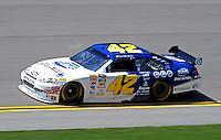 Apr 24, 2009; Talladega, AL, USA; NASCAR Sprint Cup Series driver Juan Pablo Montoya during practice for the Aarons 499 at Talladega Superspeedway. Mandatory Credit: Mark J. Rebilas-
