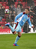 Burnley's Sam Vokes during the pre-match warm-up <br /> <br /> Photographer Rich Linley/CameraSport<br /> <br /> The Premier League - Liverpool v Burnley - Sunday 12 March 2017 - Anfield - Liverpool<br /> <br /> World Copyright &copy; 2017 CameraSport. All rights reserved. 43 Linden Ave. Countesthorpe. Leicester. England. LE8 5PG - Tel: +44 (0) 116 277 4147 - admin@camerasport.com - www.camerasport.com