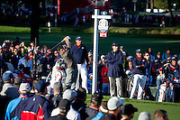 Rory McIlroy (Team Europe) on the 6th tee during the Saturday morning Foursomes at the Ryder Cup, Hazeltine national Golf Club, Chaska, Minnesota, USA.  01/10/2016<br /> Picture: Golffile | Fran Caffrey<br /> <br /> <br /> All photo usage must carry mandatory copyright credit (&copy; Golffile | Fran Caffrey)