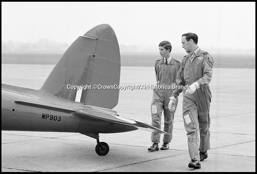 BNPS.co.uk (01202 558833)<br /> Pic: CrownCopyright/AirHistoricalBranch<br /> <br /> Prince Charles learning to fly at RAF Tangmere in 1968.<br /> <br /> A new book gives an intimate look behind the scenes of the Royal Flight and also the flying Royals.<br /> <br /> Starting in 1917 the book charts in pictures the 100 year evolution of first the King's Flight and then later the Queen's Flight as well as the Royal families passion for aviation.<br /> <br /> Author Keith Wilson has had unprecedented access to the Queen's Flight Archives to provide a fascinating insight into both Royal and aeronautical history.