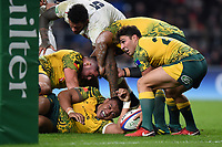 Nick Phipps of Australia looks to pass the ball. Quilter International match between England and Australia on November 24, 2018 at Twickenham Stadium in London, England. Photo by: Patrick Khachfe / Onside Images