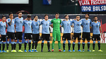 Members of the Uruguay team line up before an international friendly game against the USA on September 10, 2019 at Busch Stadium in St. Louis, Missouri USA<br /> AFP Photo by Tim VIZER