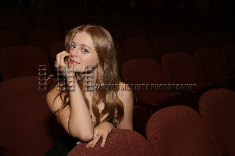 Anna Baryshnikov during her Broadway Debut photo shoot for 'Time and the Conways' at the American Airlines Theatre on September 27, 2017 in New York City.