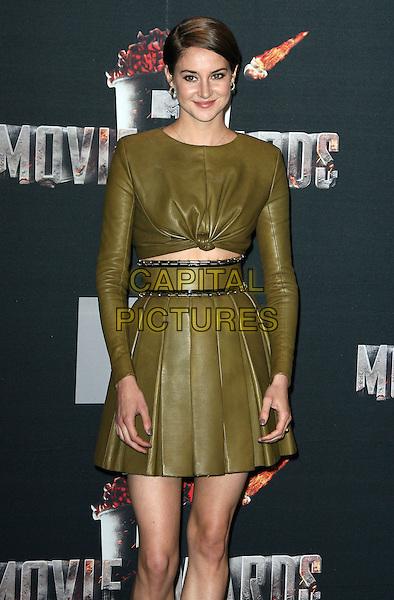 13 April 2014 - Los Angeles, California - Shailene Woodley. 2014 MTV Movie Awards held at Nokia Theatre L.A. Live. <br /> CAP/ADM<br /> &copy;AdMedia/Capital Pictures