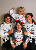 NZ's world champion BMX riders (clockwise from top): Rico Bearman, Sarah Walker, Tahlia Hansen and Nick Fox. BikeNZ/SPARC World Champions media session at Sparc Headquarters, Wellington, New Zealand on Wednesday, 2 December 2009. Photo: Dave Lintott / lintottphoto.co.nz