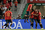 Spain's Rodrigo Moreno, Isco Alarcon, Nacho Fernandez, Marco Asensio, Dani Ceballos and Dani Carvajal celebrate goal during UEFA Nations League 2019 Final Tournament match. September 11,2018.(ALTERPHOTOS/Acero)