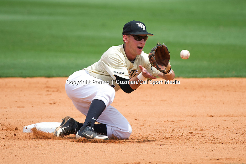 April 29, 2012: UCF infielder Travis Shreve (1) during game 3 of C-USA NCAA baseball game action between the Memphis Tigers and the Central Florida Knights. Memphis defeated UCF 1-0 to win the series at Jay Bergman Field in Orlando, FL