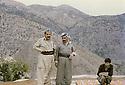 Iraq 1982 .In Nawzang, near Zahle, from left to right Jalal Talabani, Salah Moutedi and Hatige Yachar .Irak 1982 .A nawzang, pres de Zahle, de gauche a droite, Jalal Talabani, Salah Moutedi et Hatige Yachar