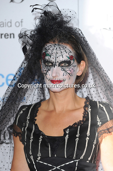 NON EXCLUSIVE PICTURE: PAUL TREADWAY / MATRIXPICTURES.CO.UK<br /> PLEASE CREDIT ALL USES<br /> <br /> WORLD RIGHTS<br /> <br /> English model Saffron Aldridge attending the UNICEF Halloween Ball at London's One Mayfair.<br /> <br /> OCTOBER 31st 2013<br /> <br /> REF: PTY 137081