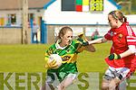 6574-6584.Kerry's Karen O'Sullivan and Cork's Kate Fitzpatrick..