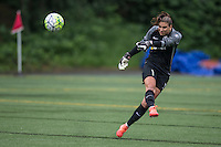 Seattle, Washington - Saturday May 14, 2016: Seattle Reign FC goalkeeper Hope Solo (1) during the first half of a match at Memorial Stadium on Saturday May 14, 2016 in Seattle, Washington. The match ended in a 1-1 draw.