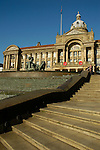 View of Council House building with steps, River fountain and statues in the foreground Victoria Square Birmingham