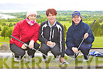 Lorraine, Carmel O'Sullivan and Brenda Barry Muscerry who played Killarney in the ILGU Minor Cup in Killorglin on Sunday.