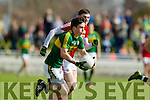 Paul Murphy Kerry in action against Luke Connolly Cork in the National Football league in Austin Stack Park, Tralee on Sunday.