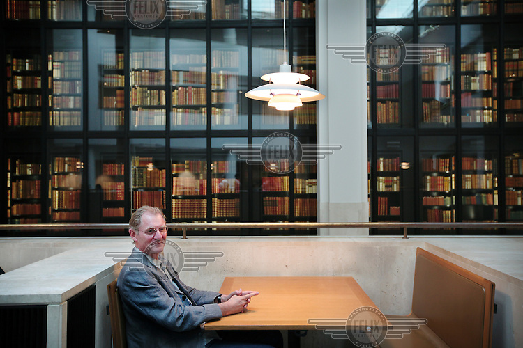 Poet Andrew Motion at The British Library in London.