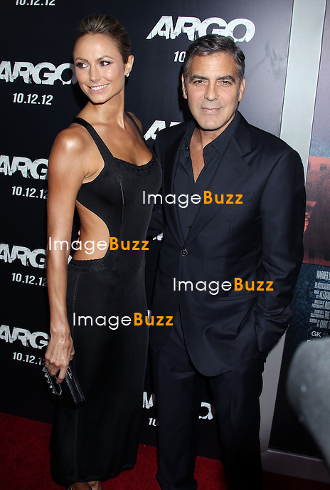 Stacy Keibler, George Clooney, Warner Bros. Pictures premiere for ARGO at the AMPAS Samuel Goldwyn Theater (Beverly Hills, CA.).Los Angeles, October 4, 2012.