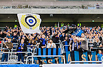 Stockholm 2014-09-28 Fotboll Superettan Hammarby IF - IK Sirius :  <br /> Sirius supportrar p&aring; Tele2 Arena under matchen mellan Hammarby och Sirius<br /> (Foto: Kenta J&ouml;nsson) Nyckelord:  Superettan Tele2 Arena Hammarby HIF Bajen Sirius IKS supporter fans publik supporters