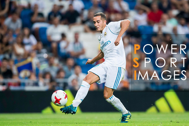 Lucas Vazquez of Real Madrid in action during the Santiago Bernabeu Trophy 2017 match between Real Madrid and ACF Fiorentina at the Santiago Bernabeu Stadium on 23 August 2017 in Madrid, Spain. Photo by Diego Gonzalez / Power Sport Images