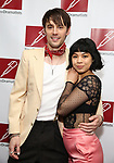 Reeve Carney and Eva Noblezada attends The New Dramatists 70th Annual Spring Luncheon honoring Nathan Lane at Marriott Marquis on May 14, 2019  in New York City.