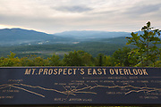 Weeks State Park - (John Wingate Weeks Estate) - Mt Prospect's East Overlook from near the summit of Mt. Prospect in Lancaster, New Hampshire on a cloudy day,