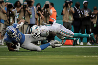 MIAMI, FL, 21.10.2018 – DOLPHINS-LIONS – Jogador Roberts do Lions, durante partida válida pela sétima semana da temporada regular da NFL, no Hard Rock Stadium, na tarde deste domingo (21). (Foto: Jayson Braga / Brazil Photo Press)