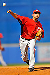 28 February 2011: Washington Nationals' pitcher Brian Broderick in action during a Spring Training game against the New York Mets at Digital Domain Park in Port St. Lucie, Florida. The Nationals defeated the Mets 9-3 in Grapefruit League action. Mandatory Credit: Ed Wolfstein Photo