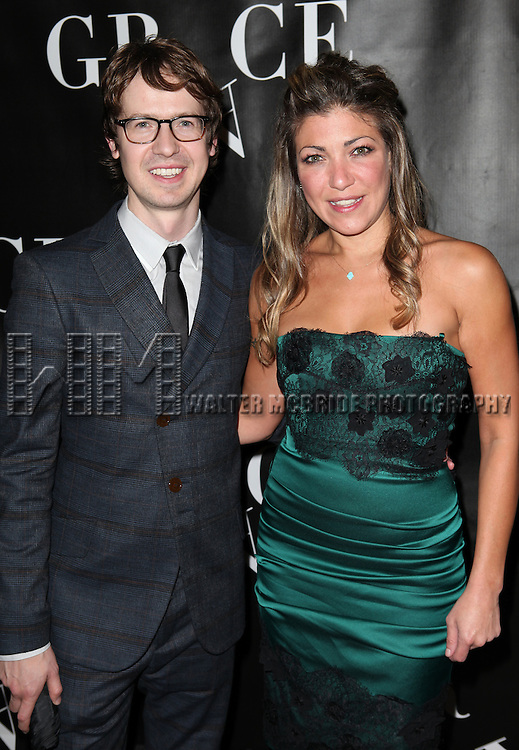 David Turner and Guest attending the Opening Night Performance of 'Grace' at the Cort Theatre in New York City on 10/4/2012.