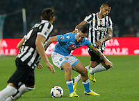 Marek Hamsik   in action during the Italian Serie A soccer match between SSC Napoli and Juventus FC   at San Paolo stadium in Naples, March 30 , 2014