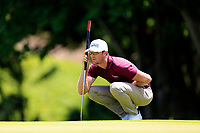 Sebastian Heisele (GER) in action during the third round of the Afrasia Bank Mauritius Open played at Heritage Golf Club, Domaine Bel Ombre, Mauritius. 02/12/2017.<br /> Picture: Golffile | Phil Inglis<br /> <br /> <br /> All photo usage must carry mandatory copyright credit (&copy; Golffile | Phil Inglis)