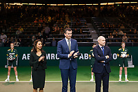 Rotterdam, The Netherlands, 17 Februari 2019, ABNAMRO World Tennis Tournament, Ahoy, Final, Doubles, Jean-Julien Rojer (NED) / Horia Tecau (ROU) winners, Price Ceremony,<br /> Photo: www.tennisimages.com/Henk Koster