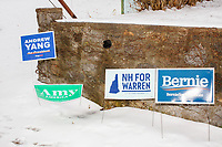 Elizabeth Warren - Polling place drop by on primary day - Manchester NH - 11 Feb 2020