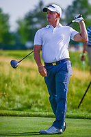Bud Cauley (USA) watches his tee shot on 12 during Thursday's round 1 of the 117th U.S. Open, at Erin Hills, Erin, Wisconsin. 6/15/2017.<br /> Picture: Golffile | Ken Murray<br /> <br /> <br /> All photo usage must carry mandatory copyright credit (&copy; Golffile | Ken Murray)