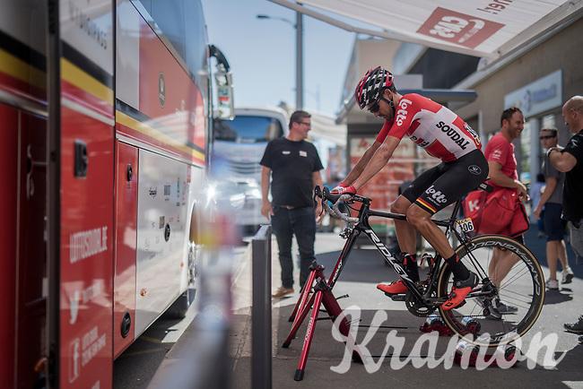 Rafael Valls (ESP/Lotto-Soudal) warming down after finishing the race<br /> <br /> Stage 5: La Tour-de-Salvagny &rsaquo; M&acirc;con (175km)<br /> 69th Crit&eacute;rium du Dauphin&eacute; 2017