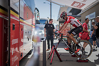 Rafael Valls (ESP/Lotto-Soudal) warming down after finishing the race<br /> <br /> Stage 5: La Tour-de-Salvagny &rsaquo; M&acirc;con (175km)<br /> 69th Crit&eacute;rium du Dauphin&eacute; 2017