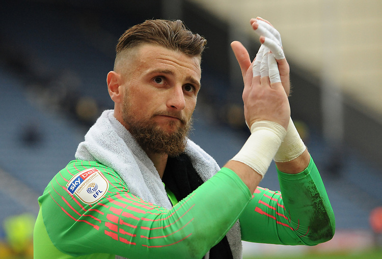 Preston North End's Declan Rudd<br /> <br /> Photographer Kevin Barnes/CameraSport<br /> <br /> The EFL Sky Bet Championship - Preston North End v Barnsley - Saturday 5th October 2019 - Deepdale Stadium - Preston<br /> <br /> World Copyright © 2019 CameraSport. All rights reserved. 43 Linden Ave. Countesthorpe. Leicester. England. LE8 5PG - Tel: +44 (0) 116 277 4147 - admin@camerasport.com - www.camerasport.com